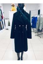 Długi jesienny płaszcz czarny