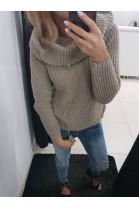 Sweter/golf ciepły brąz