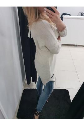 Sweter długi beżowy