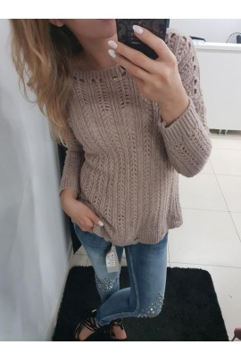 Sweter brudny róż