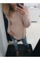 Sweter jasny róż