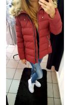 kurtka zimowa bordowa mat