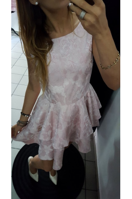 Sukienka rozkloszowana podwójna falbanka