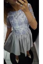 Sukienka rozkloszowana koronka
