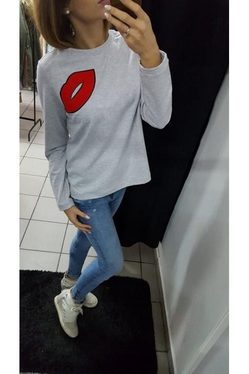 Bluza z motywem ust 0406