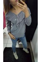 Elegancka koszula w kratę 0304