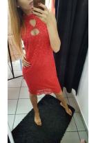 Sukienka koronkowa łezka czerwona