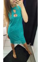 Sukienka koronkowa łezka zielona