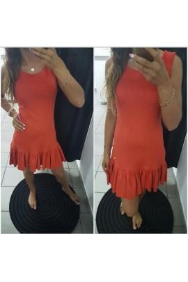 Sukienka zamszowa z falbaną 5375