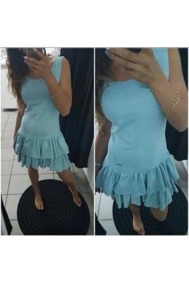 Zamszowa sukienka z falbanami 5372