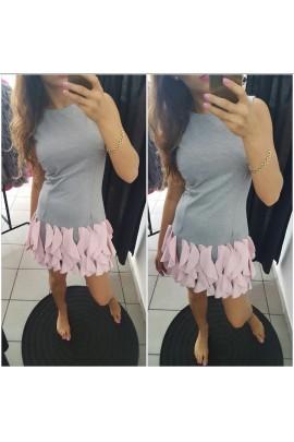 Sukienka wycinane koła 7890