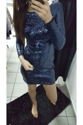 Sukienka cekiny RIO granatowa