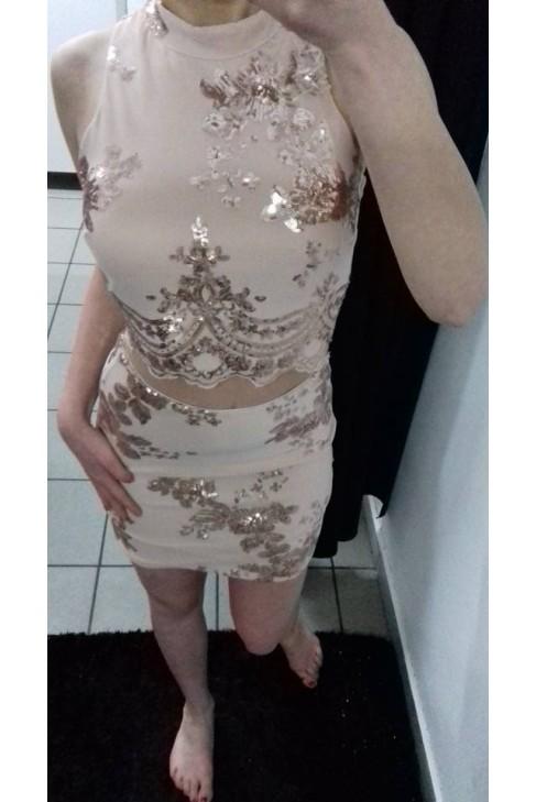 Komplet top + spódniczka