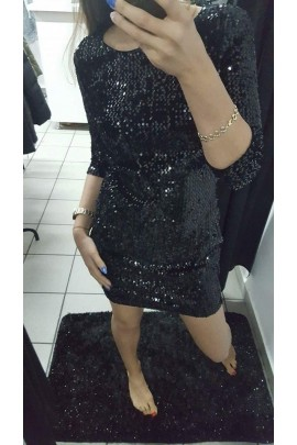 Sukienka cekiny czarna