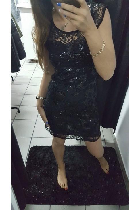 Sukienka koronka cekiny