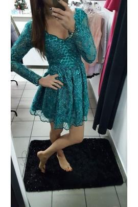 Sukienka rozkloszowana koronka EMO