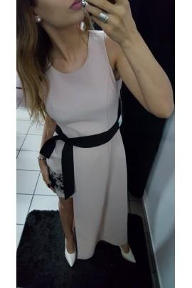 Asymetryczna sukienka beżowa
