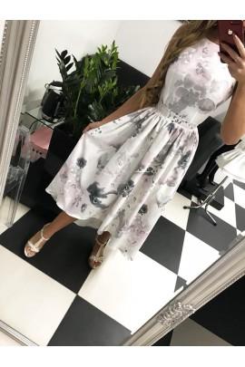 Sukienka Peonia maxi szara