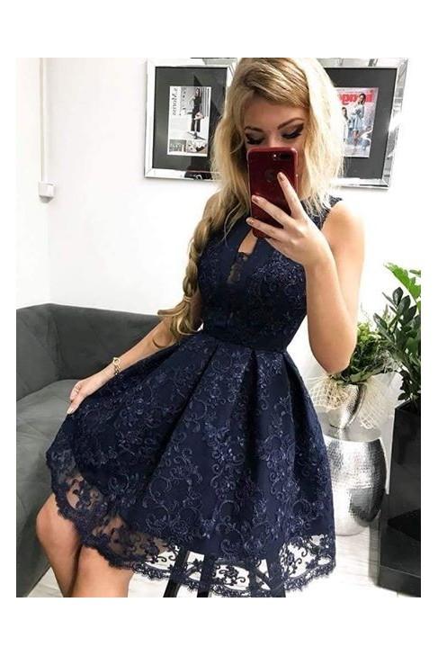 Sukienka Diana granatowa