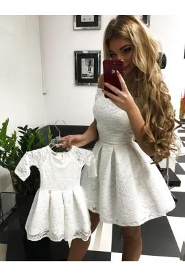 Komplet sukienek Scarlet mama córka ecru