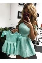 Komplet sukienek Scarlet mama córka niebieski