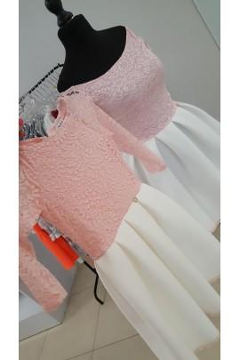 12ee4e1ef4 Komplet sukienek Śnieżka mama córka różowe